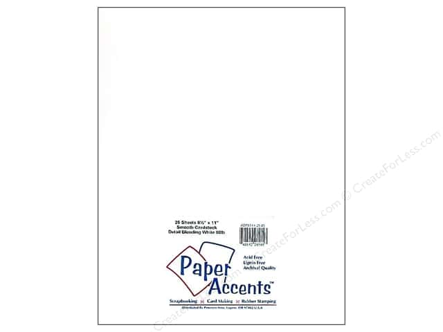 Cardstock 8 1/2 x 11 in. #85 Detail Blending White 80lb by Paper Accents (25 sheets)