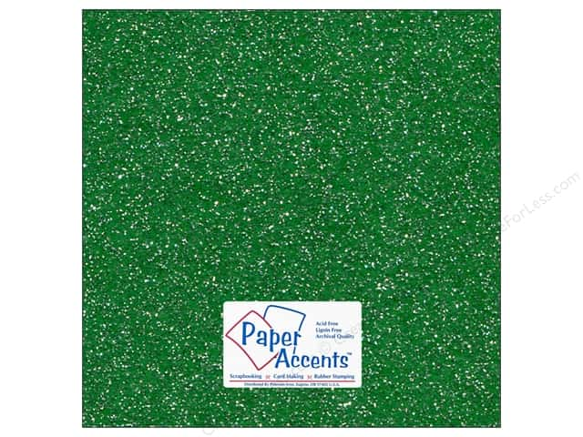 Cardstock 12 x 12 in. #5104 Glitz Silver/Fairway by Paper Accents (25 sheets)