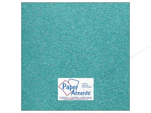 Cardstock 12 x 12 in. #5113 Glitz Silver/Blue Sky by Paper Accents (25 sheets)