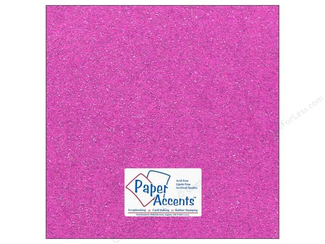 Cardstock 12 x 12 in. #5115 Glitz Silver/Sugar Plum by Paper Accents (25 sheets)