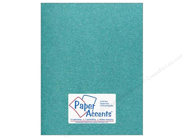 Cardstock 8 1/2 x 11 in. #5113 Glitz Silver/Blue Sky by Paper Accents (25 sheets)