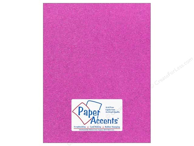 Cardstock 8 1/2 x 11 in. #5115 Glitz Silver/Sugar Plum by Paper Accents (25 sheets)