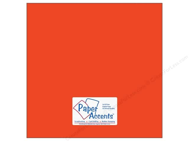 Cardstock 12 x 12 in. #10098 Stash Builder Tangerine by Paper Accents (25 sheets)