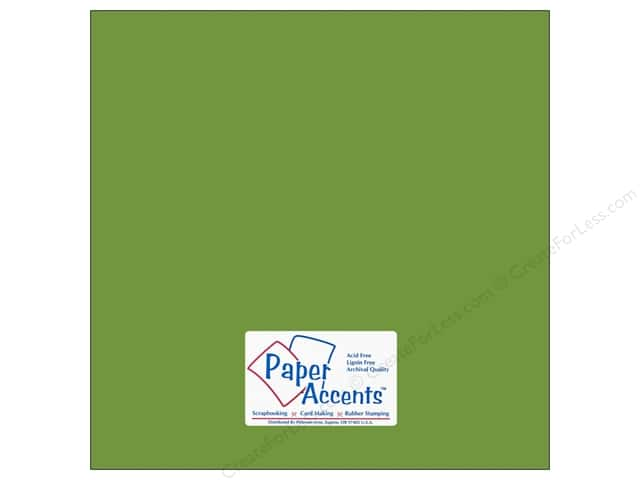 Cardstock 12 x 12 in. #10105 Stash Builder Green Parrot by Paper Accents (25 sheets)