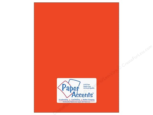 Cardstock 8 1/2 x 11 in. #10098 Stash Builder Tangerine by Paper Accents (25 sheets)