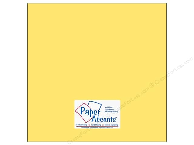 Cardstock 12 x 12 in. #10101 Stash Builder Buttercup by Paper Accents (25 sheets)