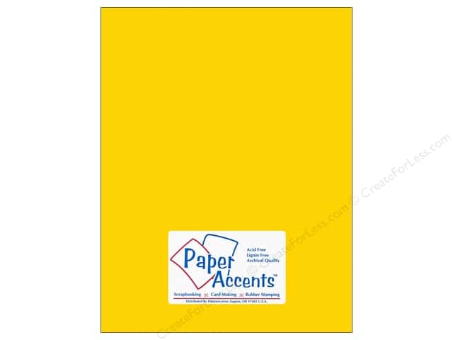 Cardstock 8 1/2 x 11 in. #10103 Stash Builder Daffodil by Paper Accents (25 sheets)