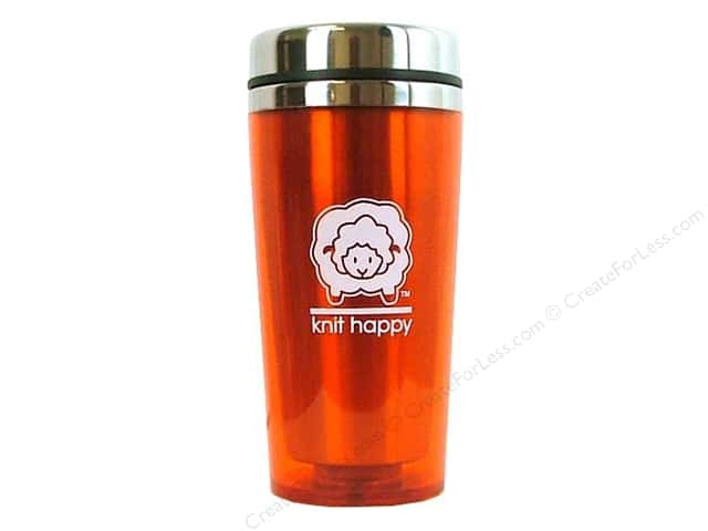 Happy Lines Insulated Tumbler Knit Orange