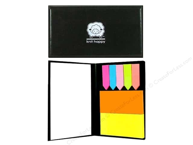 Happy Lines Sticky Note Organizer Knit Black