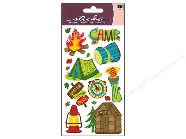 EK Sticko Stickers Camping Fun