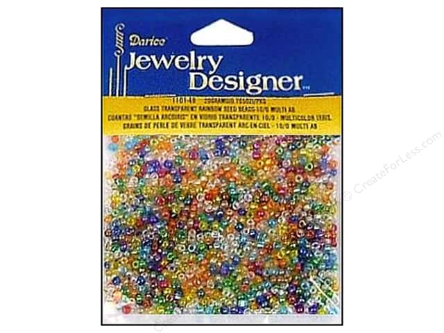 Darice Beads Jewelry Designer Seed 10/0 Transparent Multi