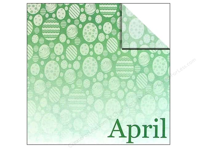 Scrappin Sports Paper 12x12 Calendar April (25 sheets)