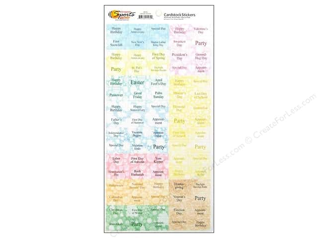 Scrappin Sports Sticker Cardstock Calendar Stickers