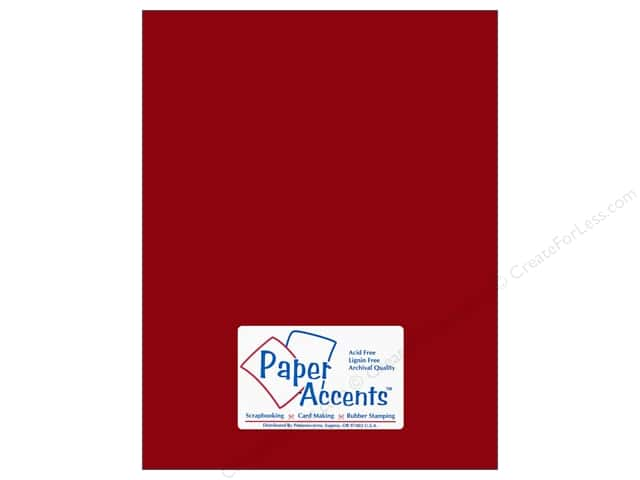 Cardstock 8 1/2 x 11 in. #10053 Stash Builder Crimson by Paper Accents (25 sheets)