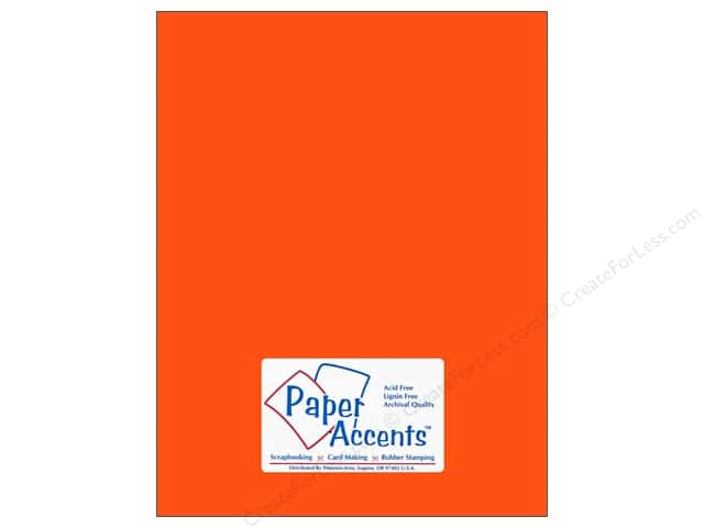 Cardstock 8 1/2 x 11 in. #109 Smooth Electric Orange by Paper Accents (25 sheets)