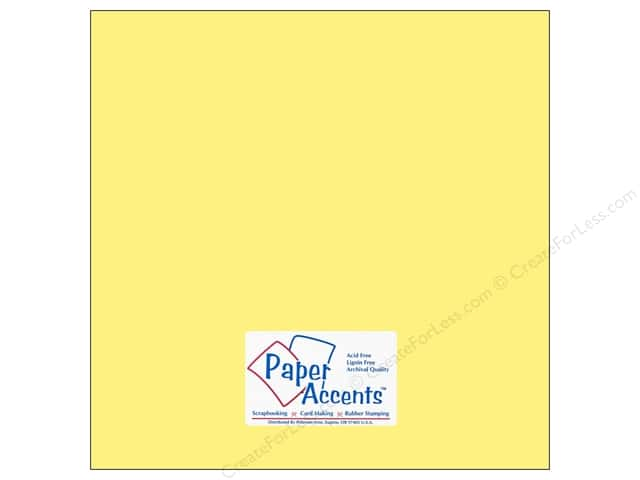 Cardstock 12 x 12 in. #169 Smooth Baby Yellow by Paper Accents (25 sheets)
