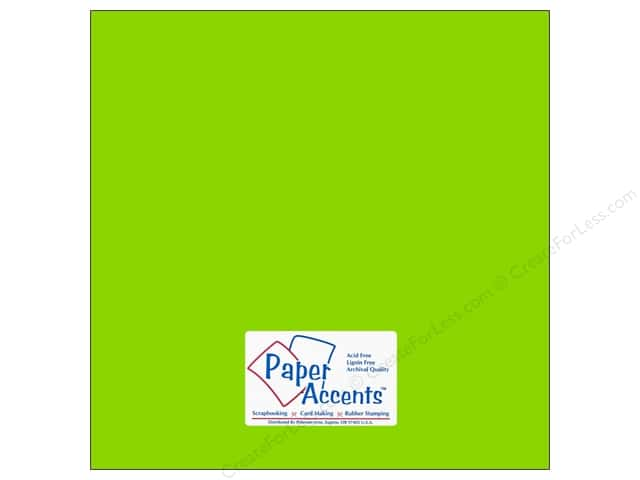 Cardstock 12 x 12 in. #113 Smooth Lime Green by Paper Accents (25 sheets)