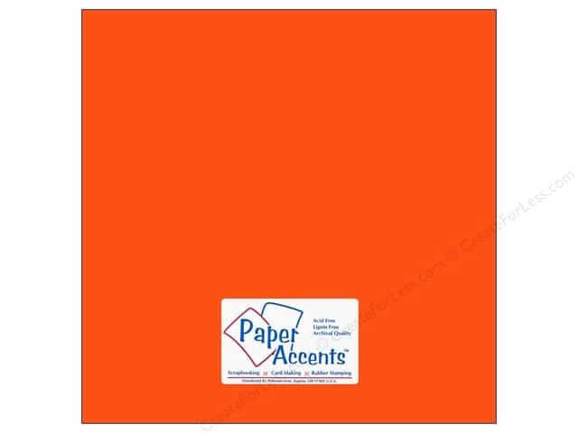 Cardstock 12 x 12 in. #109 Smooth Electric Orange by Paper Accents (25 sheets)