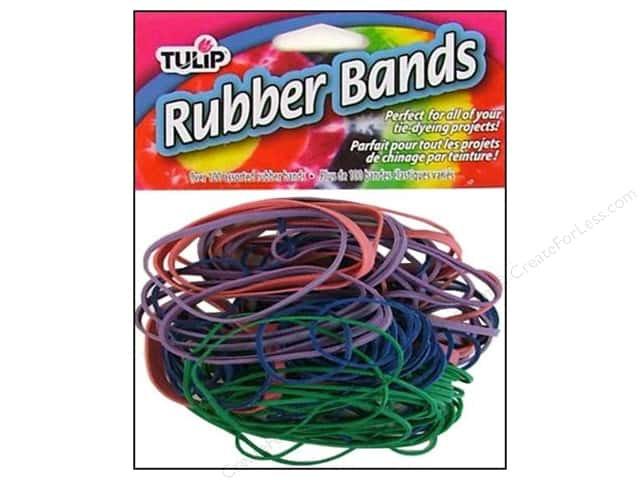 Tulip Tie Dye Accessories Rubber Bands 100pc