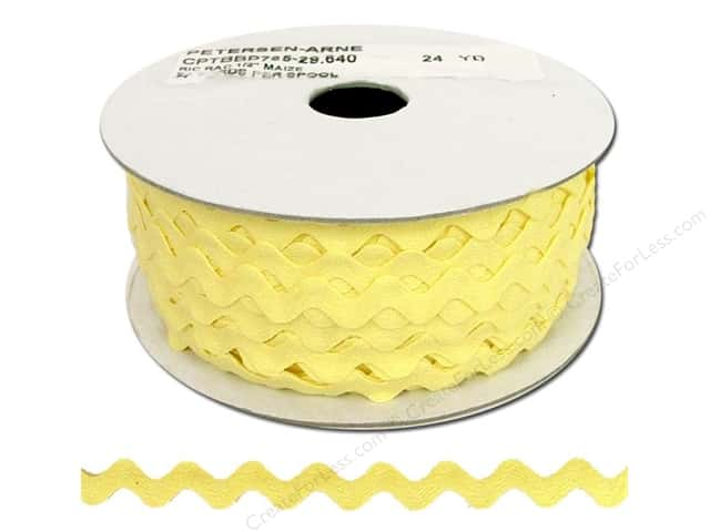Ric Rac by Cheep Trims  1/2 in. Maize (24 yards)