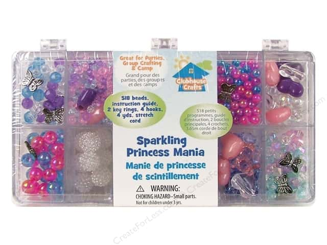 Sulyn Clubhouse Crafts Bead Mania Box Assorted Sparkling Princess