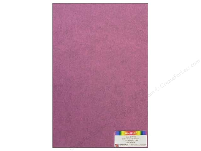 "National Nonwovens WoolFelt 12""x 18"" 35% Hydrangea (12 sheets)"