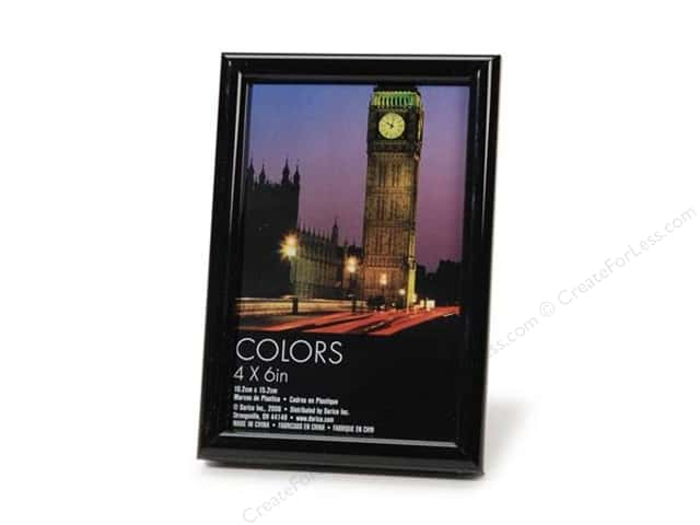 "Darice Photo Frame Tabletop Plastic 4""x 6"" Black"