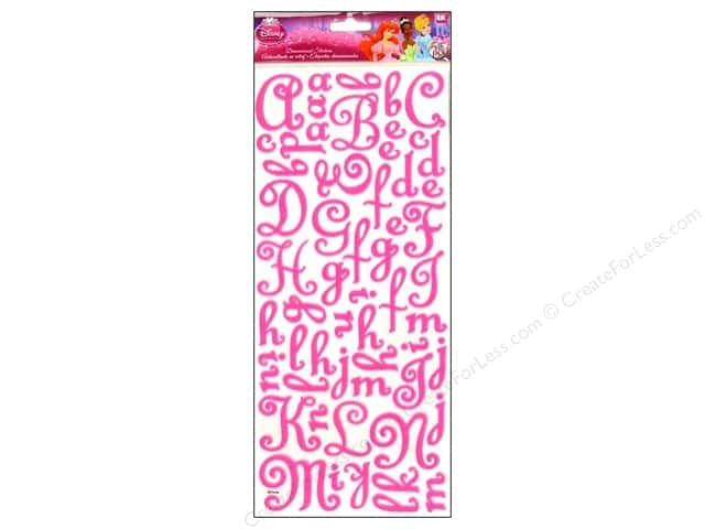 EK Disney Sticker 3D Princess Felt Alphabet