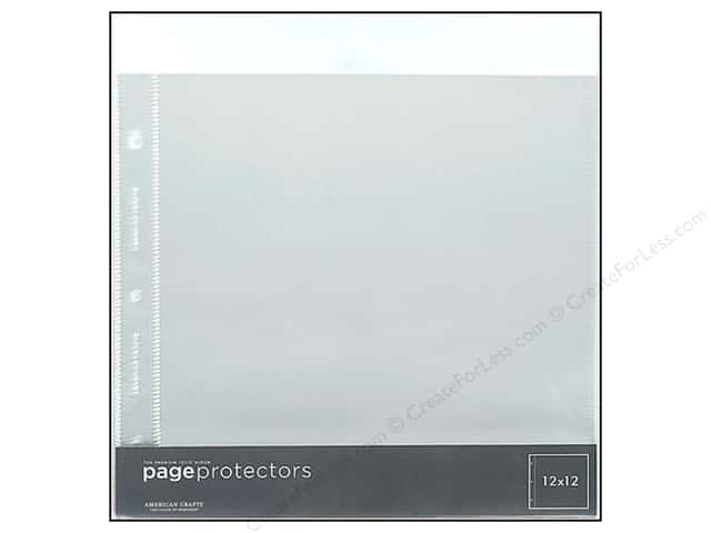 "American Crafts Page Protector 12""x 12"" 10pc"