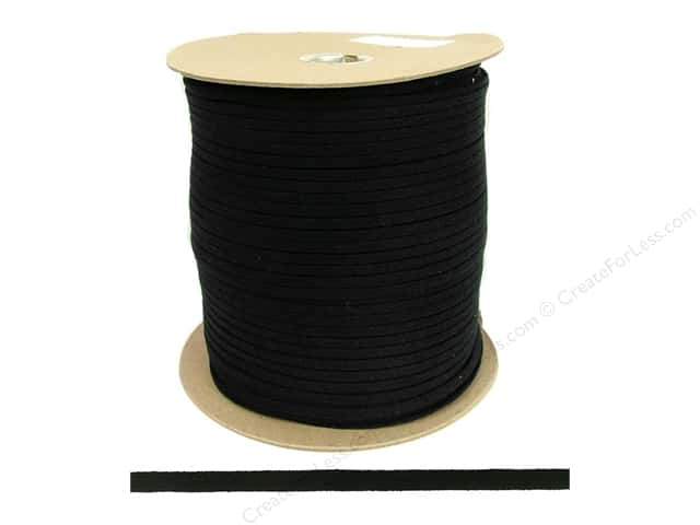 "Lacis Corset Lacing  Cotton  5/16"" Black 500yd (500 yards)"