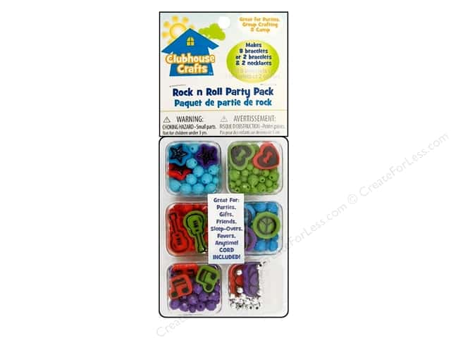 Sulyn Clubhouse Crafts Beads Party Pack Rock/Roll