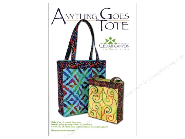 Cedar Canyon Anything Goes Tote Pattern