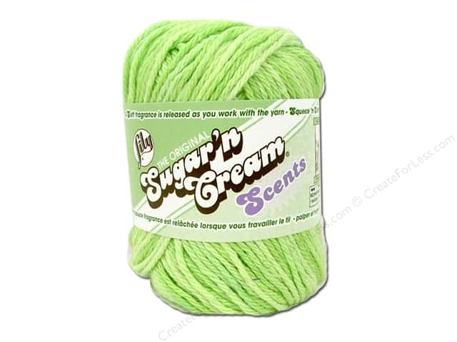 Lily Sugar 'n Cream Yarn  2 oz. #24222 Scents Aloe Vera