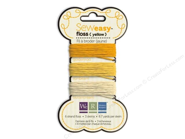 We R Memory Sew Easy Floss 3 Assorted Yellow 26yd