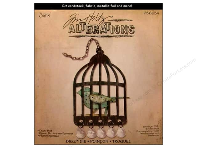 Sizzix Bigz Die Caged Bird by Tim Holtz