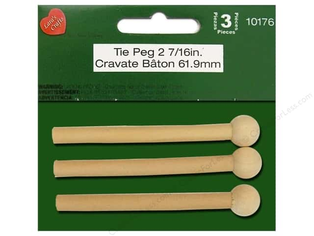 Lara's Wood Tie Peg 2 7/16 in. 3 pc.