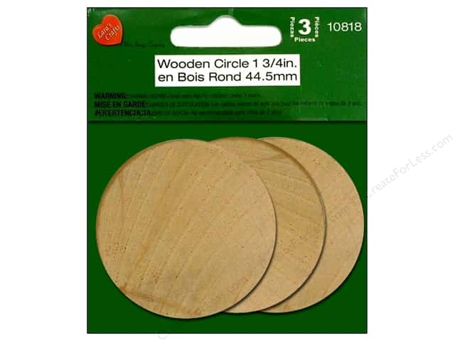 "Lara's Wood Circle 1.75"" 3pc"