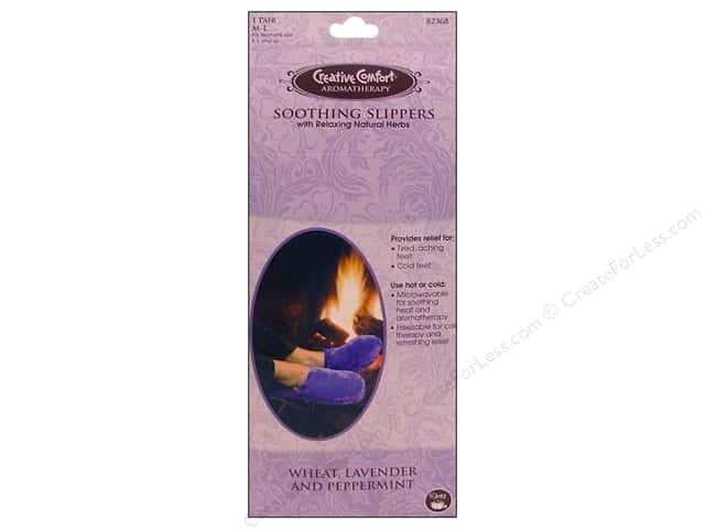 Dritz Creative Comfort Aromatherapy Slippers Medium/Large