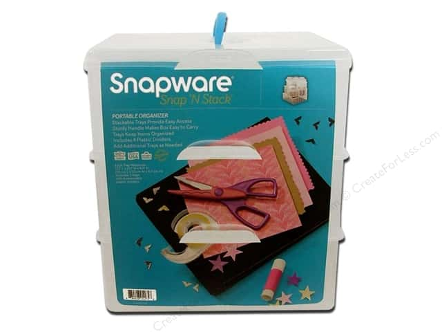 Snapware Snap 'N Stack Large Square 3 Layer 4 Dividers