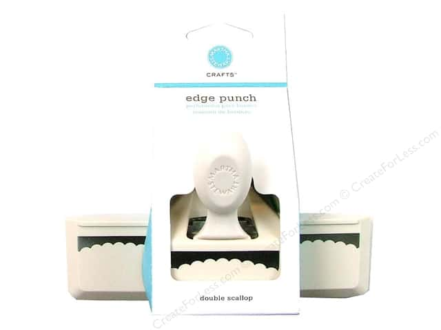 Martha Stewart Punch Edge Double Scallop