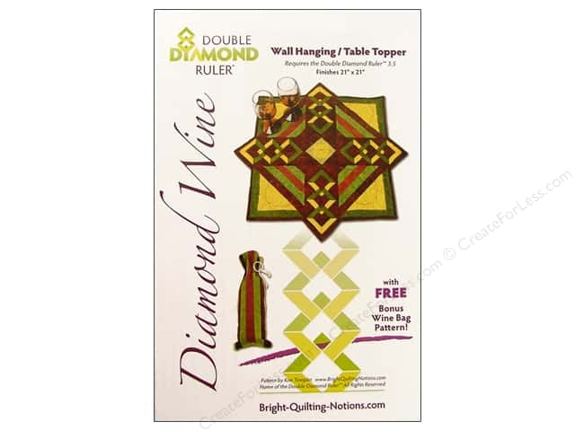 Bright Quilting Notions Diamond Wine Pattern