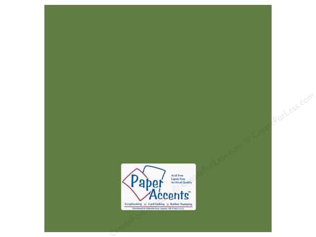 Cardstock 12 x 12 in. #18023 Smooth Guacamole by Paper Accents (25 sheets)