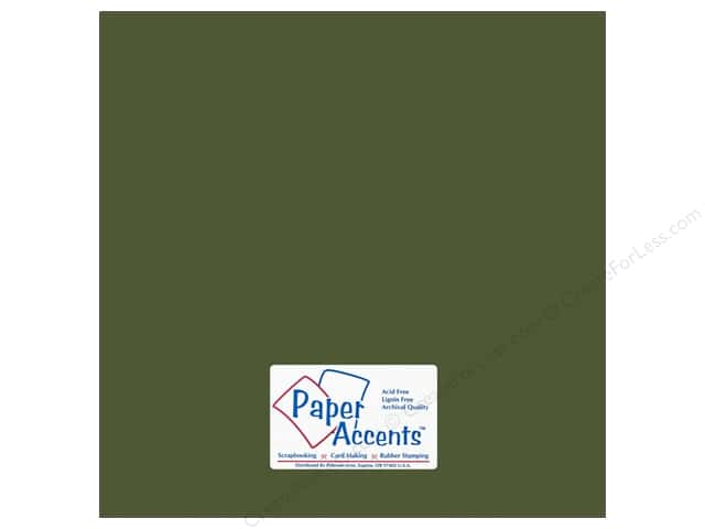 Cardstock 12 x 12 in. #18024 Smooth Rain Forest by Paper Accents (25 sheets)