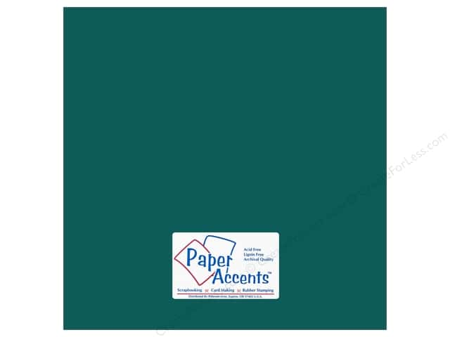 Cardstock 12 x 12 in. #18032 Smooth Blue Calypso by Paper Accents (25 sheets)