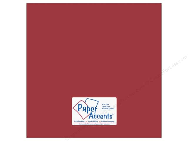 Cardstock 12 x 12 in. #18059 Smooth Brandywine by Paper Accents (25 sheets)
