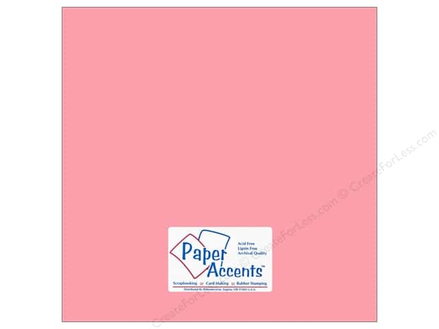 Cardstock 12 x 12 in. #18063 Smooth Tickled Pink by Paper Accents (25 sheets)