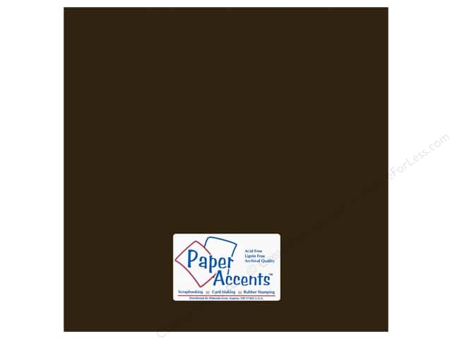 Cardstock 12 x 12 in. #18072 Smooth Bitter Chocolate by Paper Accents (25 sheets)