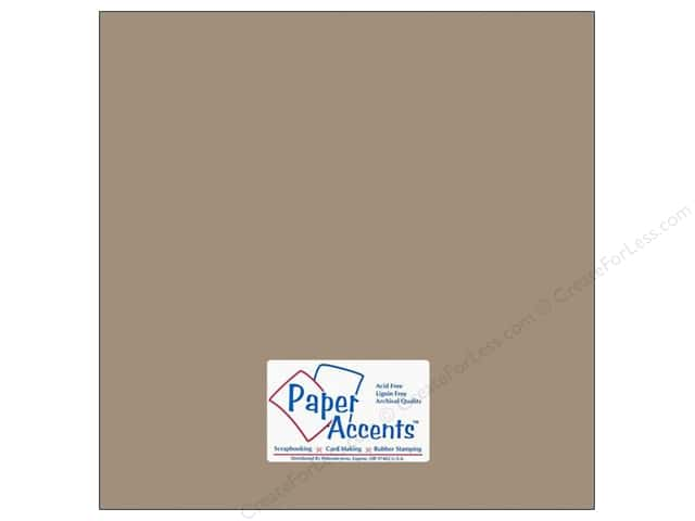 Cardstock 12 x 12 in. #18074 Smooth Stonehenge by Paper Accents (25 sheets)
