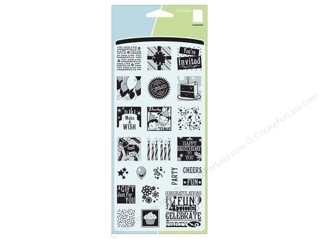 Inkadinkado Clear Stamp Inchies Birthday