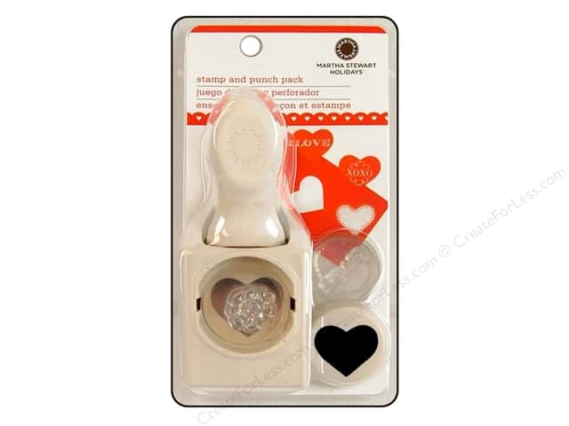 Martha Stewart Stamp and Punch Love Letters Set